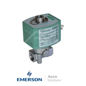 "0.25"" BSPP E314K068S0V00F1 Asco General Service Solenoid Valves Direct Acting 24 VDC Brass"