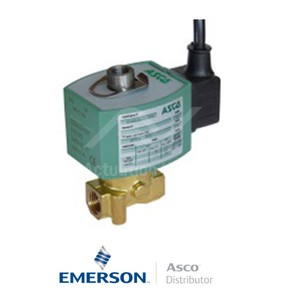 "0.25"" BSPP E314K054S4N00F8 Asco Numatics General Service Solenoid Valves Direct Acting 230 VAC Stainless Steel"