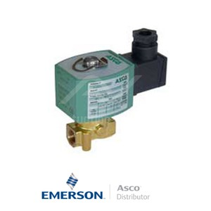 "0.25"" BSPP E262K262S1V00F8 Asco General Service Solenoid Valves Direct Acting 230 VAC Stainless Steel"