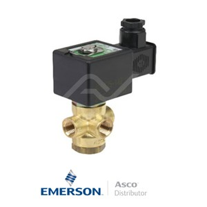 """0.25"""" NPT SCB320A196 Asco General Service Solenoid Valves Direct Acting 230 VAC Stainless Steel"""
