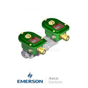 "0.25"" BSPP EMXG551A403 Asco Process Automation Solenoid Valves Pilot Operated 24 VDC Brass"