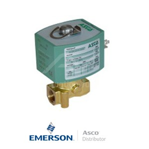 "0.25"" BSPP E262K261S0N00F8 Asco General Service Solenoid Valves Direct Acting 230 VAC Stainless Steel"