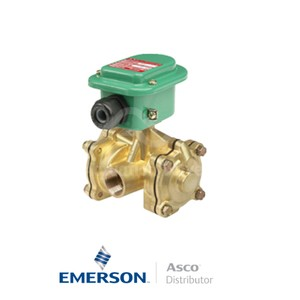 "0.5"" NPT EMB316D026 Asco General Service Solenoid Valves Pilot Operated 24 VDC Stainless Steel"