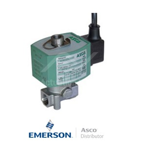 "0.25"" BSPP E314K068S4V00F1 Asco General Service Solenoid Valves Direct Acting 24 VDC Brass"