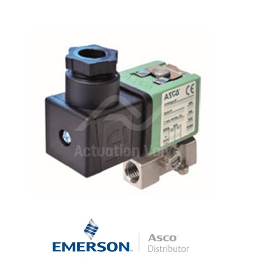 "0.25"" BSPP SCG256B434VMS Asco Numatics General Service Solenoid Valves Direct Acting 24 VDC Brass"