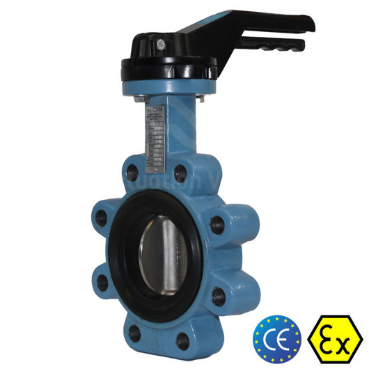 6 Inch 150MM Butterfly Valves Carbon Steel WCB Lugged Body Lloyds Atex