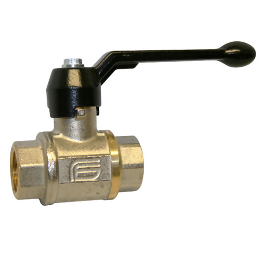 Screwed Brass Ball Valves Nickel Plated Lockable Lever Op Vented Black