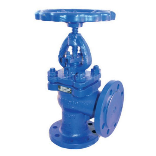 Angled Pattern Cast Iron Globe Valves Flanged PN16 Handwheel Operated