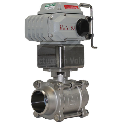 Butt Weld SS Electrically Actuated Ball Valve 3 PCE FB 1000PSI Koei