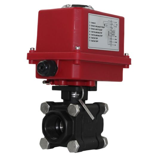 Electric Actuated Ball Valves Heavy Duty Carbon Steel Full Bore IP67