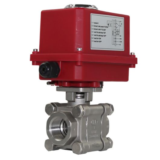 Electric Actuated Motorised Ball Valves Heavy Duty Full Bore Screwed