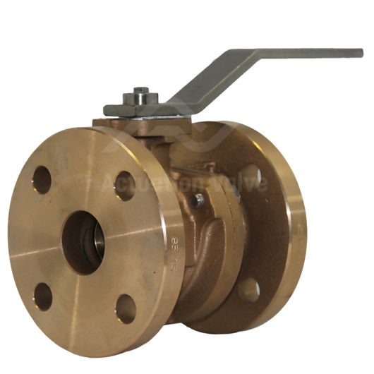 Bronze B62 Flanged Ball Valves PTFE Seat Fire Safe Full Bore Marine