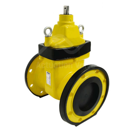 Gas Approved Gate Valves Ductile Iron Body NBR Encapsulated Wedge