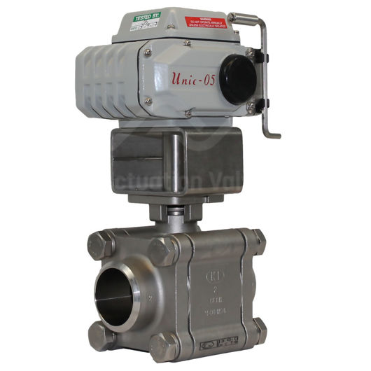 High Pressure Electric Water Valves SS Actuated Ball And Override Key