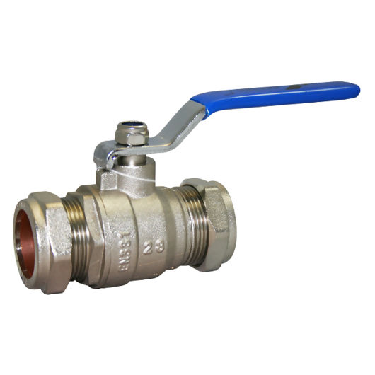 Compression Ends Brass Ball Valves Lever OP Wras Approved Full Bore