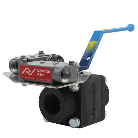 Lever Operated Starline Ball Valves Carbon Steel With Limit Switch Box