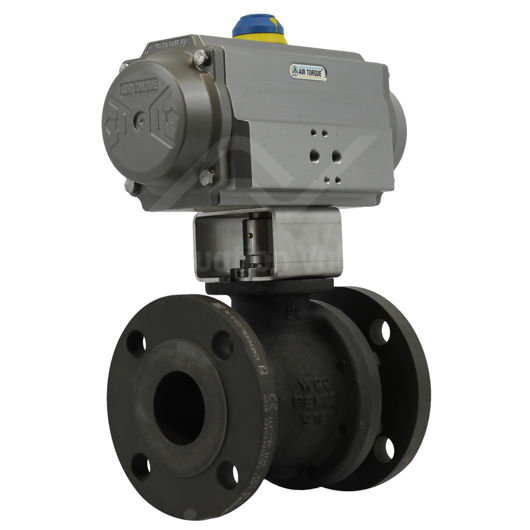 Pneumatically Actuated Flanged Pekos Carbon Steel Ball Valves PN16