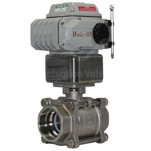 Welded SS Electrically Actuated Ball Valve 3 PCE FB 1000PSI Koei