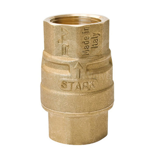 Spring Check Valves Polyacetal DIsc Full Flow Screwed BSPP Brass Body