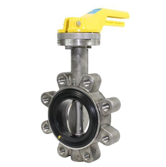 Stainless Steel Lugged Pattern TTV Butterfly Valves Soft Seat Manual