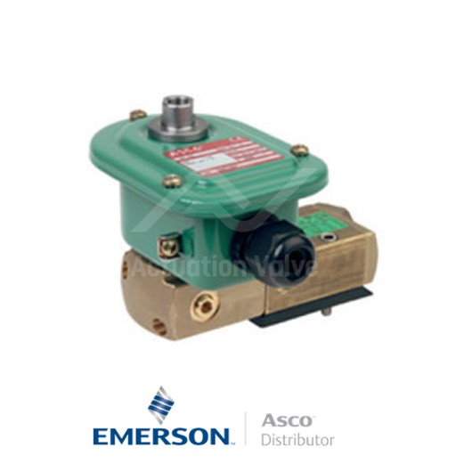 "0.25"" BSPP WPG551A303SL Asco Process Automation Solenoid Valves Pilot Operated 230 VAC Stainless Steel"