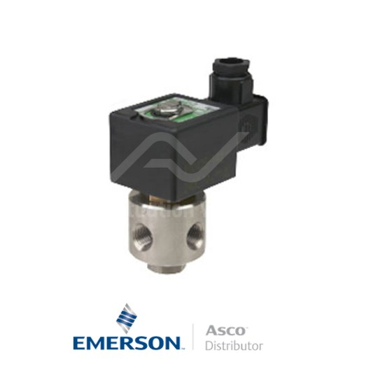 """0.125"""" NPT SCB320A142 Asco General Service Solenoid Valves Direct Acting 115 VAC Brass"""