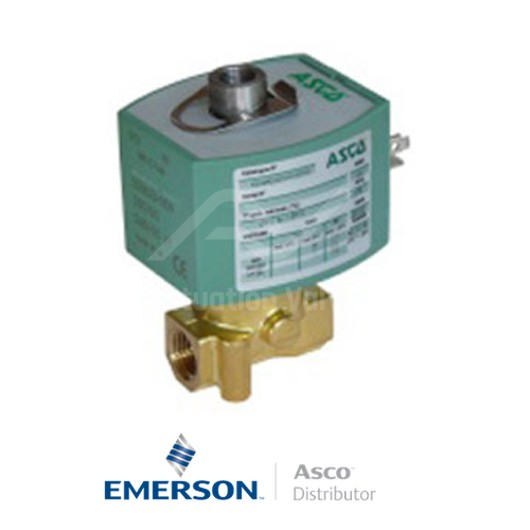 "0.25"" BSPP E314K054S0N01F1 Asco Numatics General Service Solenoid Valves Direct Acting 24 VDC Stainless Steel"