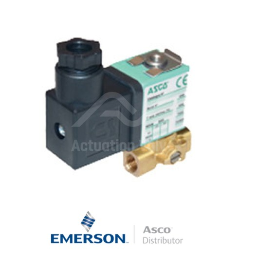 "0.25"" BSPP SCG356B466VMS Asco General Service Solenoid Valves Direct Acting 24 VDC Stainless Steel"
