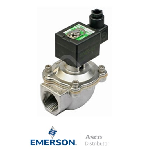 """0.75"""" BSPP SCG353A043 Asco Dust Collector Solenoid Valves Pilot Operated 24 VDC Light Alloy"""