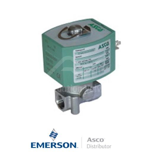 "0.25"" BSPP E262K184S0N01FR Asco Numatics General Service Solenoid Valves Direct Acting 48 VAC Brass"