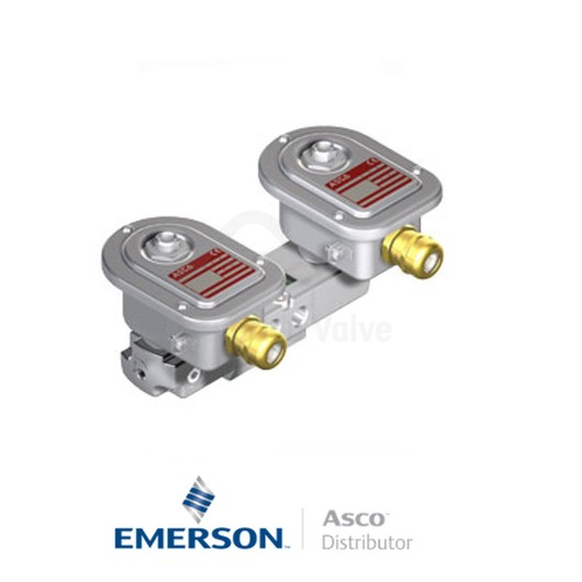 "0.25"" NPT WSEMET8551A322 Asco Process Automation Solenoid Valves Pilot Operated 24 VDC Brass"