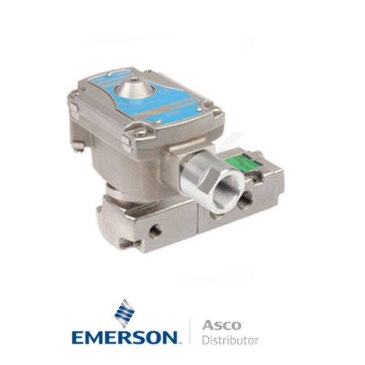 "0.25"" NPT WSLI8551A321 Asco Numatics Process Automation Solenoid Valves Pilot Operated 24 VDC Brass"