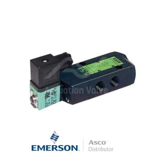 "0.25"" NPT SC8551A017 Asco Process Automation Solenoid Valves Pilot Operated 24 VDC Engineered Plastics"