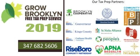 Grow Brooklyn VITA FREE Tax Preparation