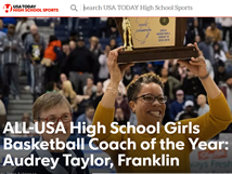 Coach Audrey Taylor National Coach of the Year (USA Today)