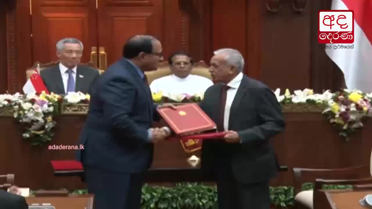 Sri Lanka and Singapore sign Free Trade Agreement
