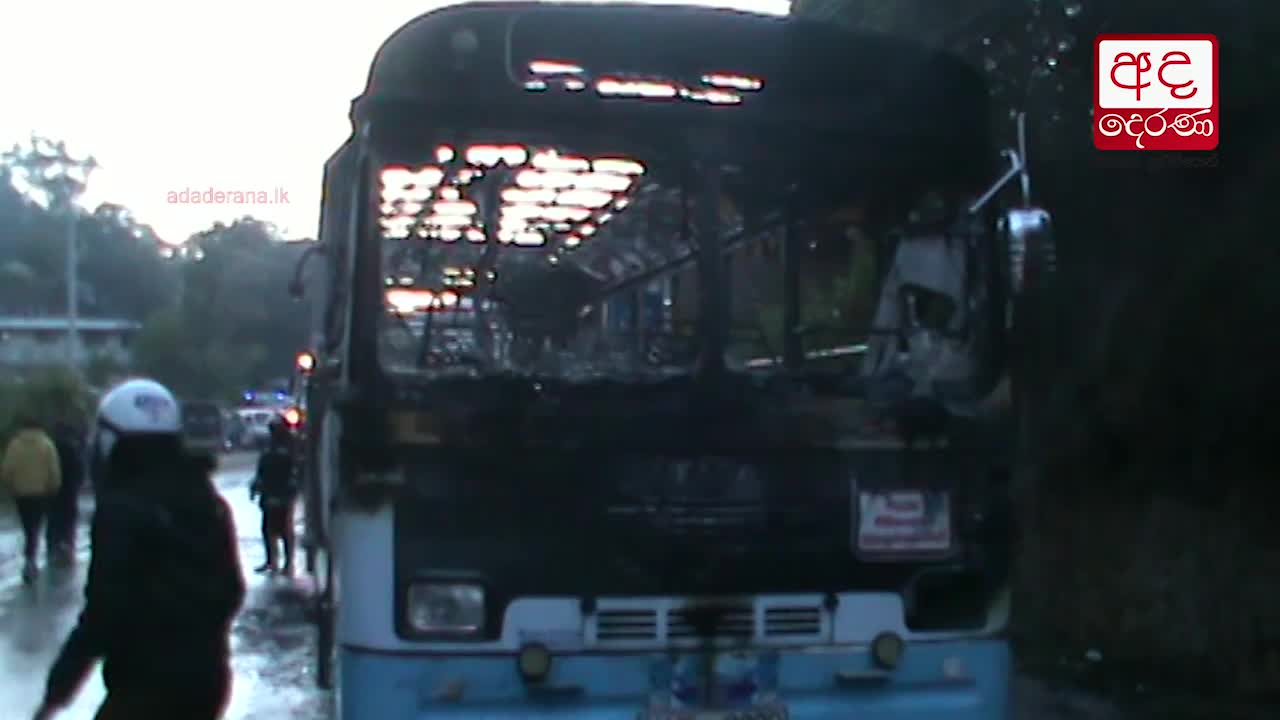 17 injured after bus catches fire in Kahagolla