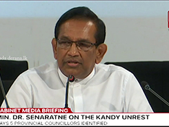 No politician is linked to Kandy incident - Rajitha (English)