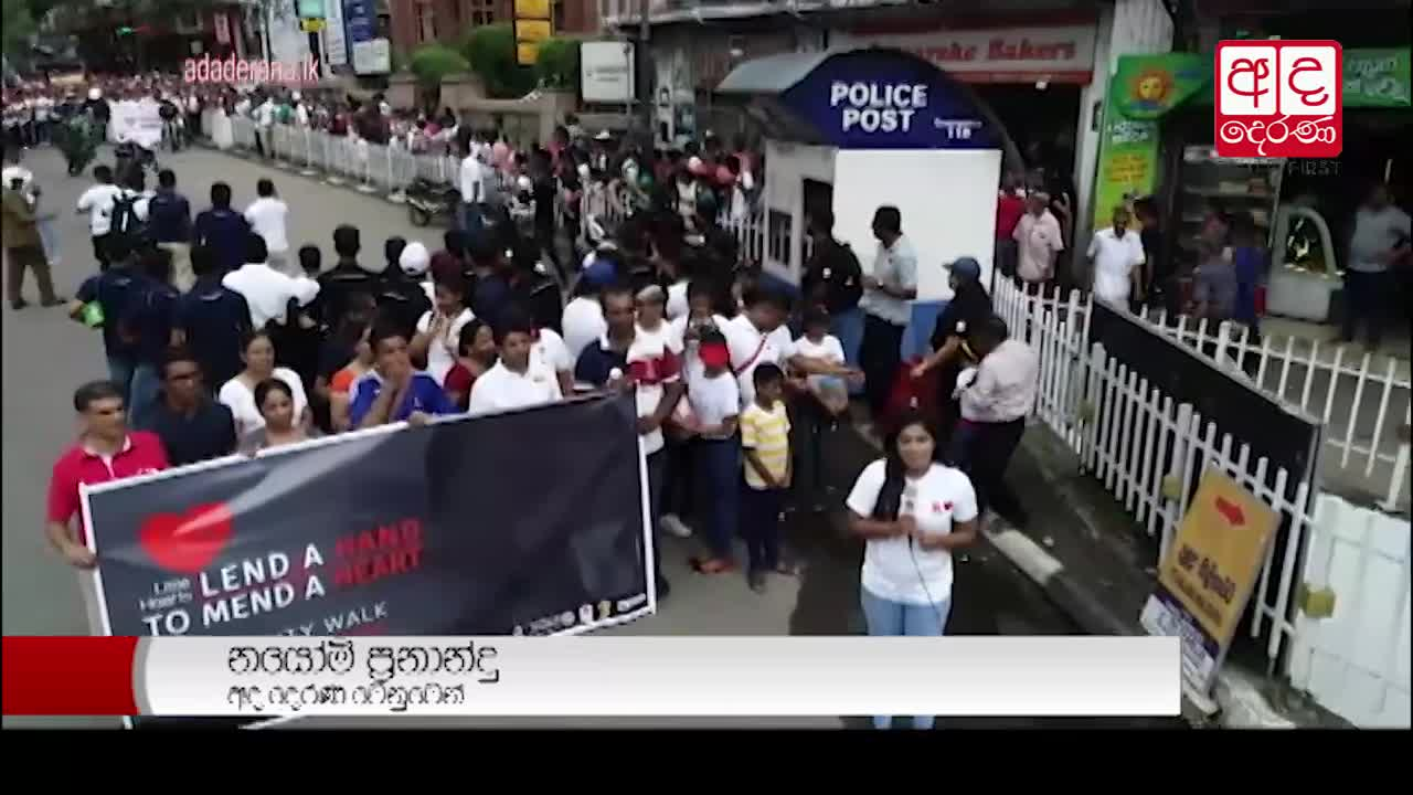 Walk in aid of Little Hearts Foundation held in Kandy today