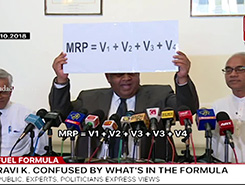 Ravi&#39s &#39montessori&#39 brain doesn&#39t understand fuel pricing formula - Mangala (English)