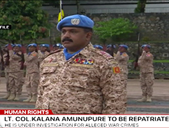 UN asks Sri Lanka to repatriate commander in Mali (English)