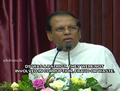 Later only I realized that current UNP is not DS or Dudley&#39s UNP - President (English)