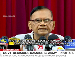 An act providing complete protection for terrorists is in parliament today - G. L. (English)