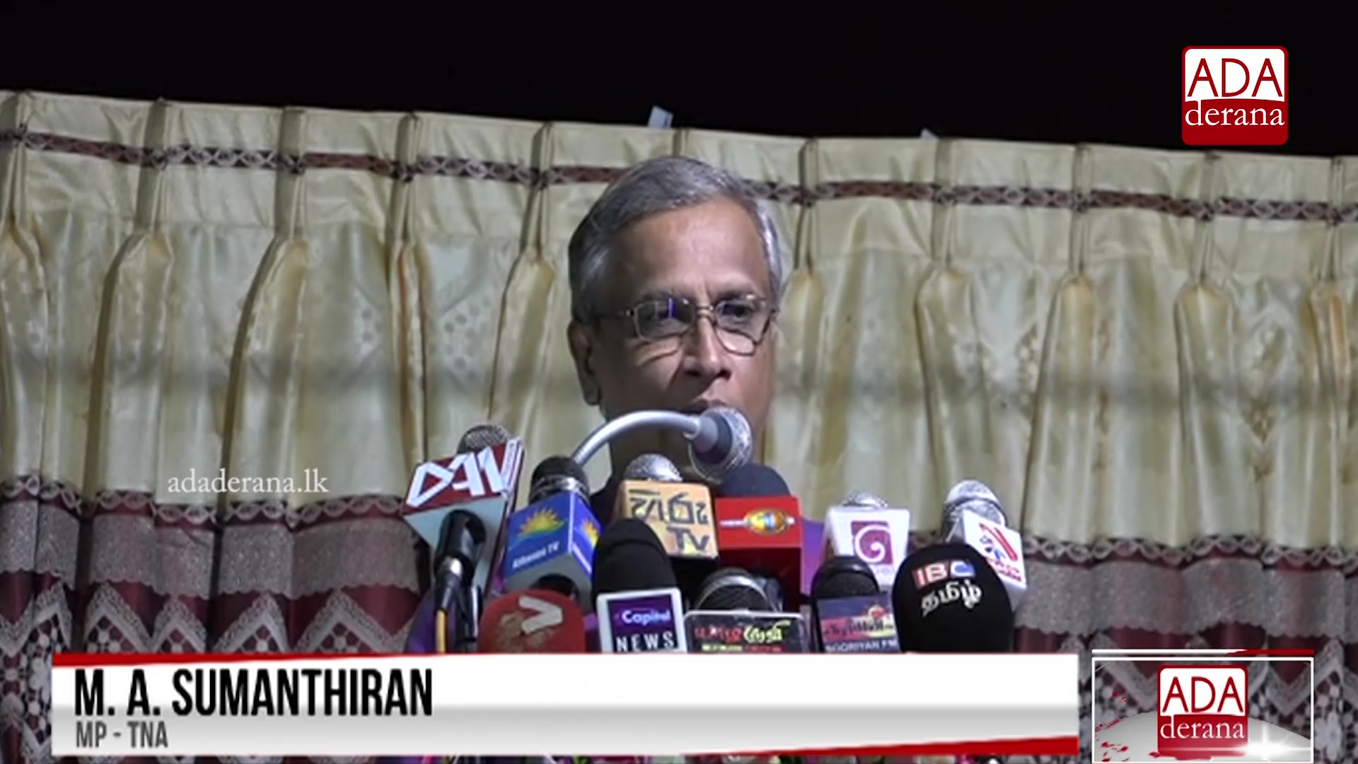We are happy with former President&#39s statement - Sumanthiran (English)