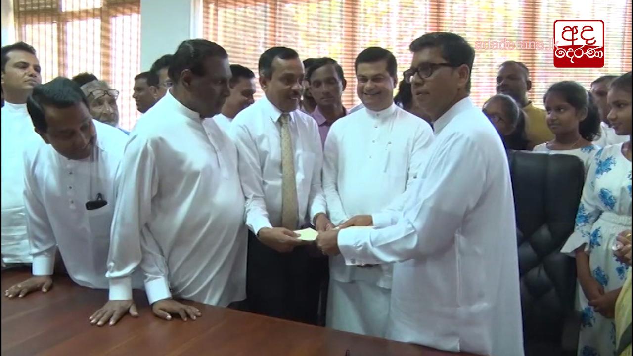 Sabaragamuwa Province Governor Dhamma Dissanayake assumes duties