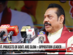 This govt is still opening development projects initiated by us - Mahinda (English)