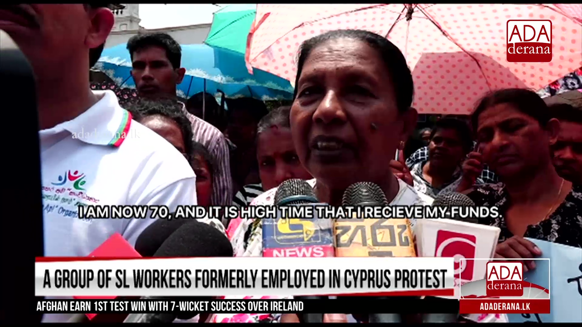 Lankans formerly employed in Cyprus protest over Social Benefits Fund (English)