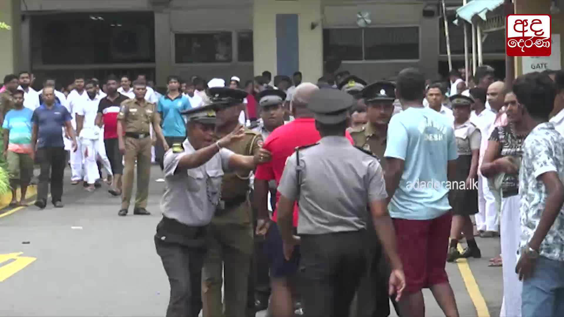 Footage from Colombo National Hospital area