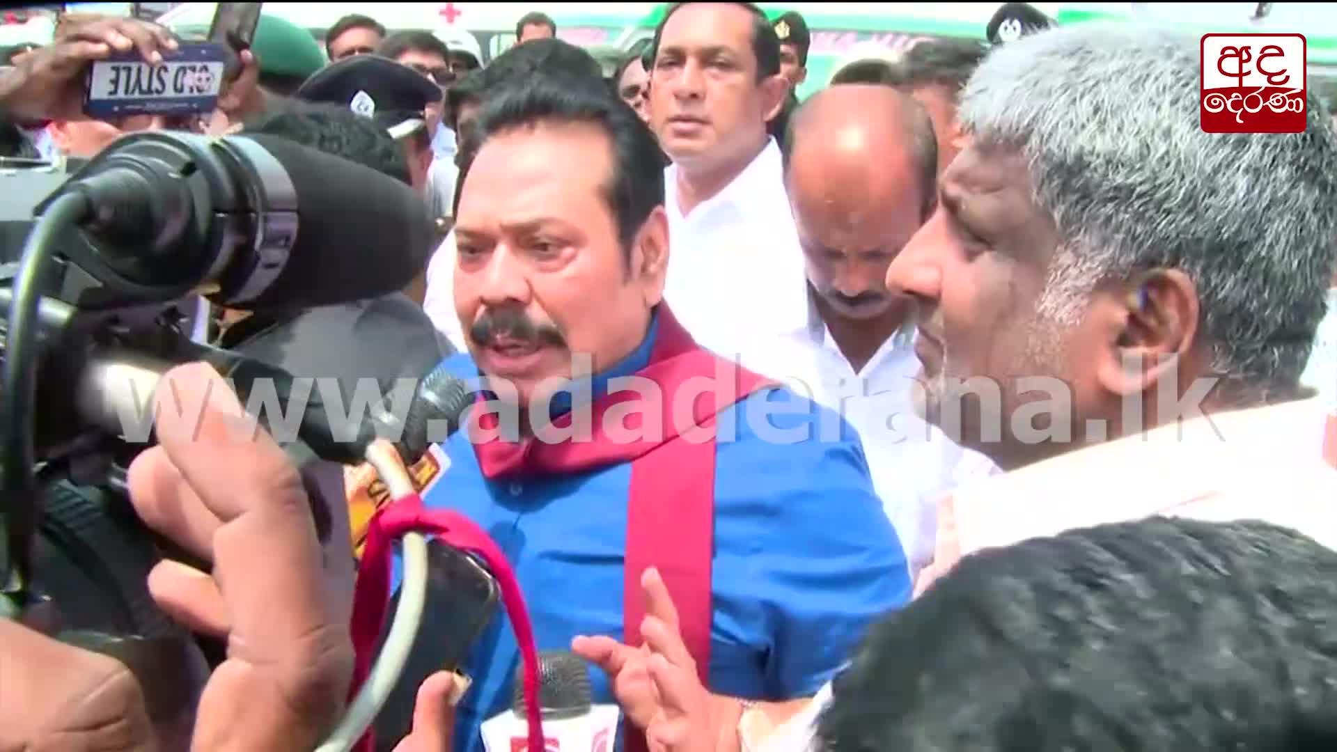 Mahinda Rajapaksa urges people to act peacefully