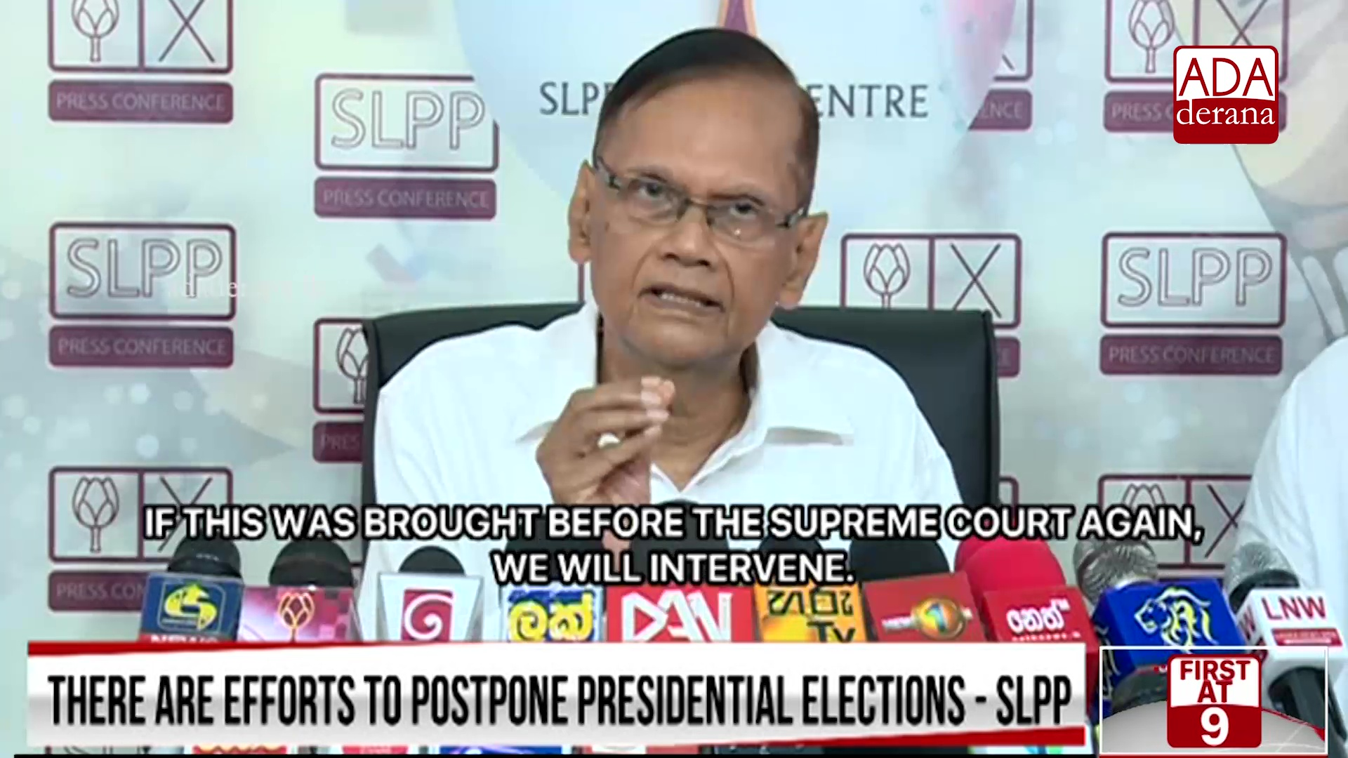 Govt.&#39s latest attempt is to postpone elections - G.L. (English)